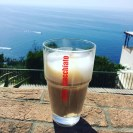 Morning Latte overlooking the sea in Praiano, Italy